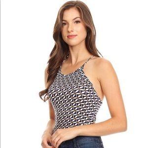 Brand new waist length top halter top